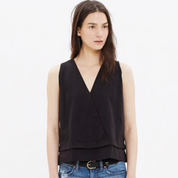 22d30c85701 [Madewell] V-Neck Structured Tank Top